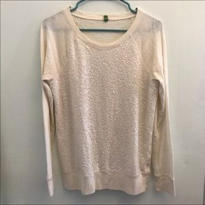 •J. Crew• Sequined Front Long Sleeve Top